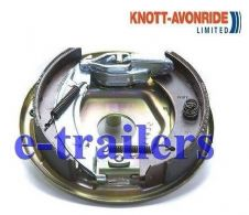 KNOTT RIGHT SIDE 203x40 COMPLETE BACKPLATE ASSEMBLY BRAKE SHOES -IFOR WILLIAMS